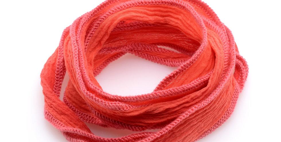 Orange Silk Wrap