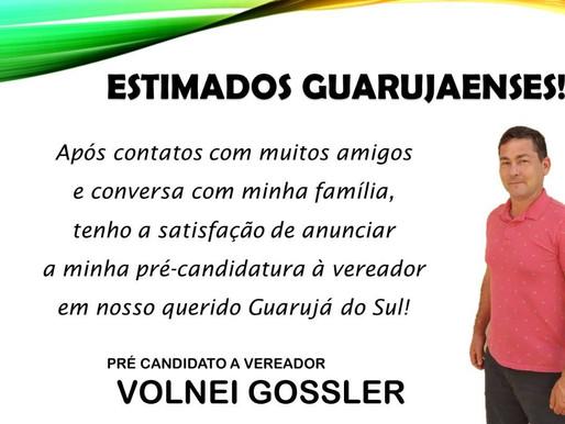 Volnei Gossler ja se destacava como secretario da saúde m guarujá do sul agora vem como pre candid..