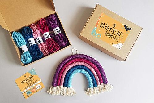 LOLLIPOP Rainbow wall hanging DIY craft kit