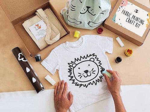 Lion stencil painting kit