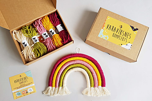 SPRING Rainbow wall hanging DIY craft kit
