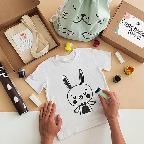 Rabbit stencil painting kit