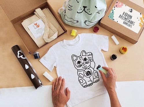 Maneki Neko stencil painting kit