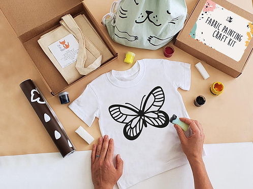 Buterfly stencil painting kit