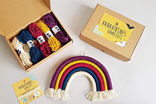 DEEP Rainbow wall hanging DIY craft kit