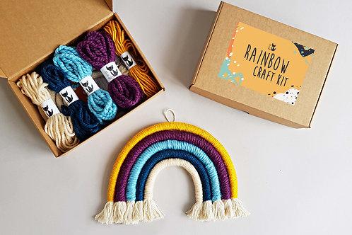 Rainbow wall hanging DIY craft kit