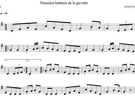Ma présentation de Prévôt de Danse: Partitions de la gavotte (5/6)