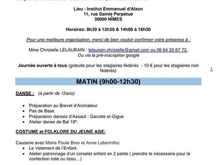 Journée d'Etude de la F.F.M. le 8 mars 2020 - Nîmes