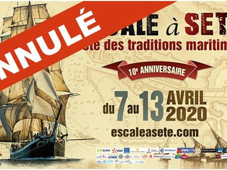 J'allais intervenir à l'édition 2020 d'Escale à Sète
