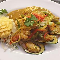 # 34 Seafood Pad Poong Ga Ree