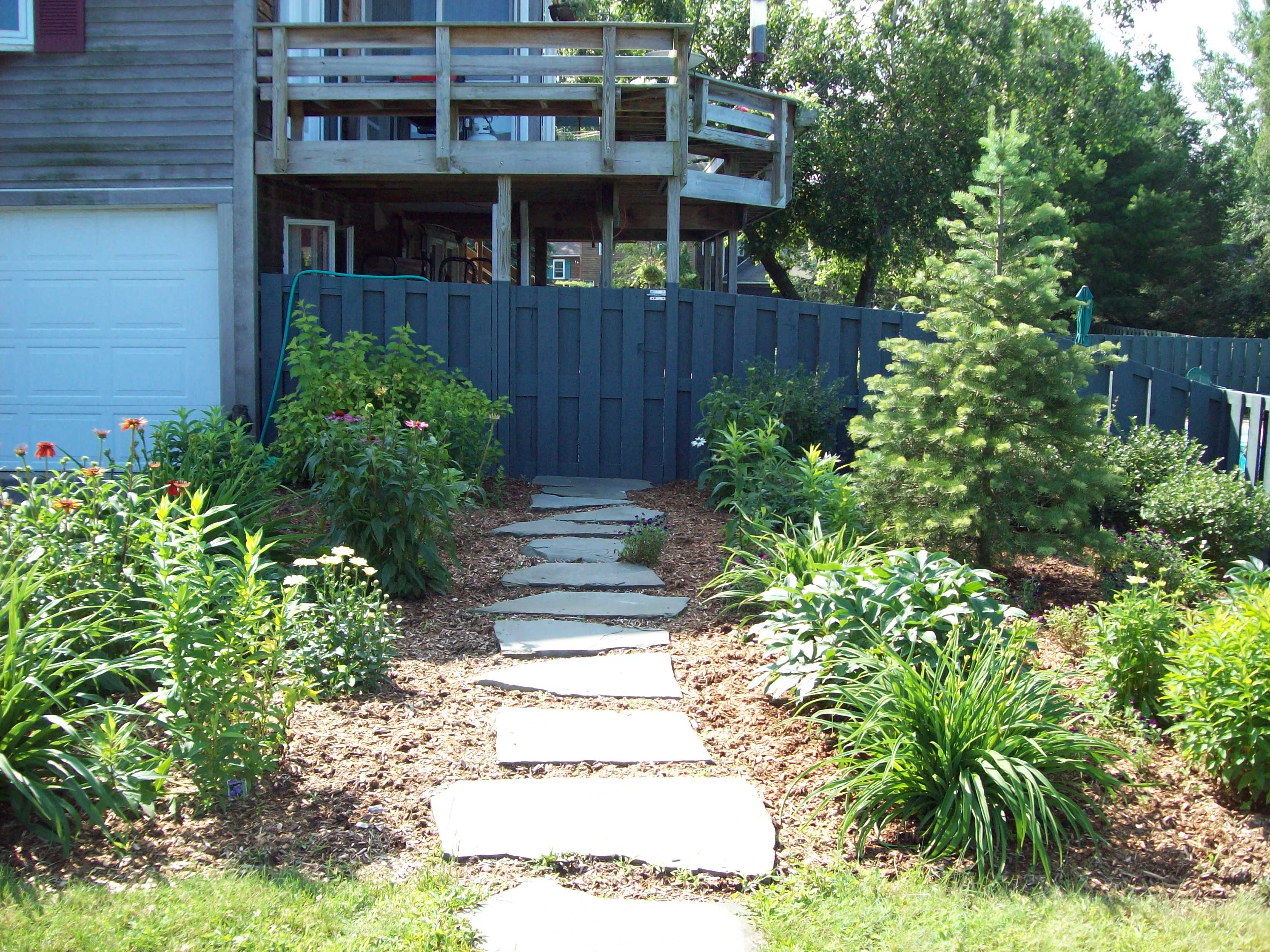 Front Entry Walk and Plantings