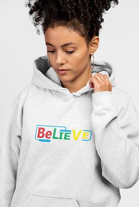 """""""Believe"""" Jerzees Fleece Pullover Hood"""
