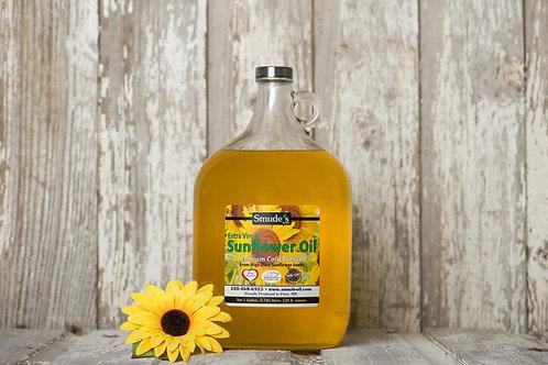 1 Gallon Glass Cold Pressed Sunflower Oil