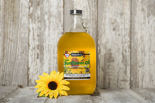 1/2 Gallon Glass Cold Pressed Sunflower Oil