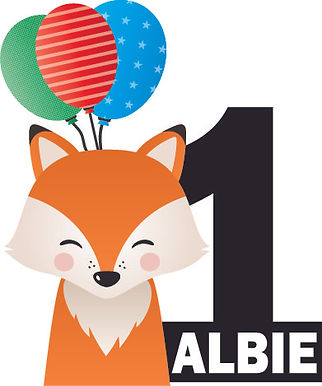 Birthday Fox Theme - Personalised Apparel