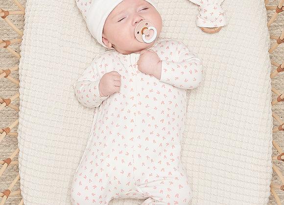 BOBTAIL PINK GIFT SET - Baby Sleepsuit + Teether Set