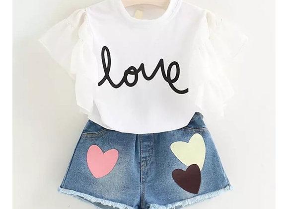 Love frill top & Jean shorts
