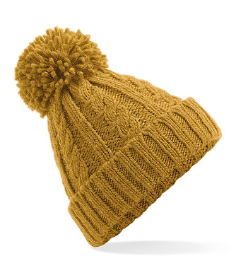 Cable Knit Hat - Ochre