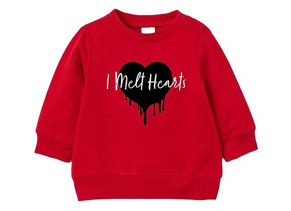 Heart Melt Sweat Red