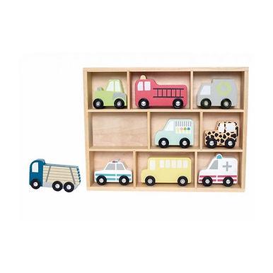 Shelfs with cars