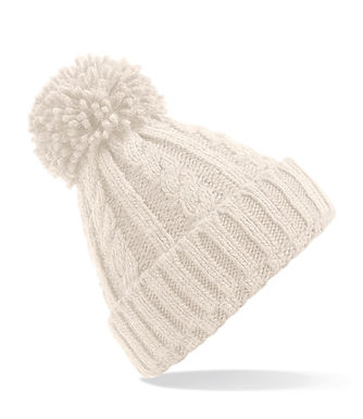 Cable Knit Hat - Oat