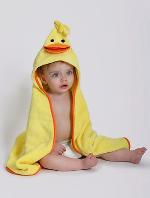 Puddle Duck Cotton Baby Hooded Towel