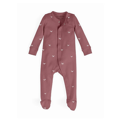 Berry Bow Footed Sleepsuit