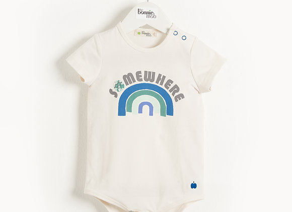 CABO - Baby Bodysuit BLUE RAINBOW