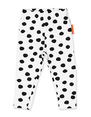 Organic Black Dot Leggings