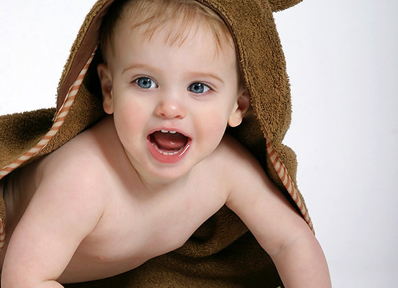 Max the Monkey Cotton Baby Hooded Towel
