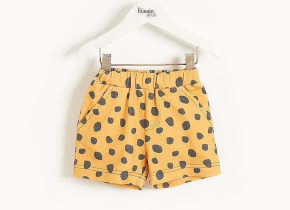 MIAMI - Kids Comfy Shorts MUSTARD LEOPARD