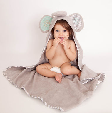 Ellie the Elephant Cotton Baby Hooded Towel