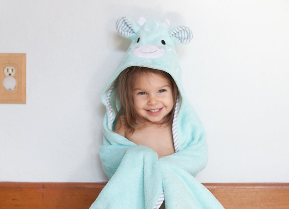 Jamie the Giraffe Cotton Baby Hooded Towel
