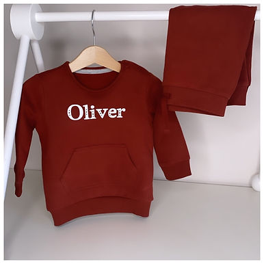 Personalised Sweater & Jogger Suit Brown