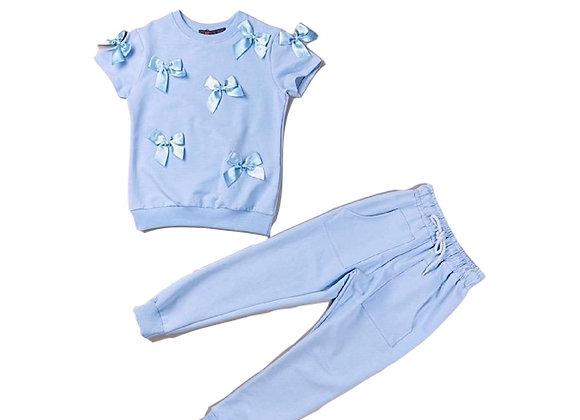 'Becca' Bow suit powder blue