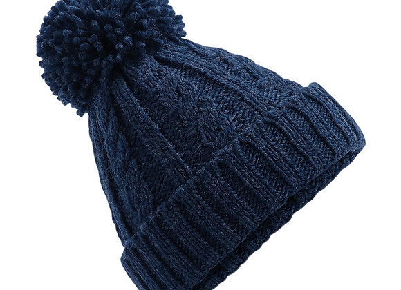 Cable Knit Hat - Navy