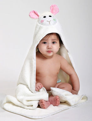 Lola the Lamb Cotton Baby Hooded Towel