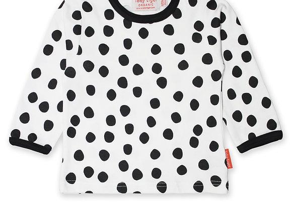 Organic Black Dot Print T-Shirt