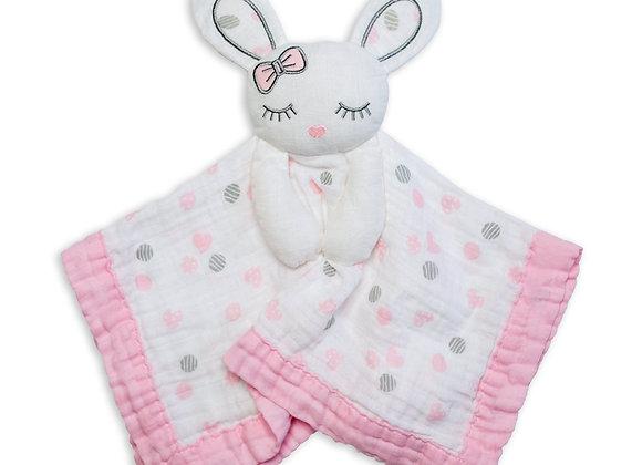 Cotton Muslin Lovie - Bunny
