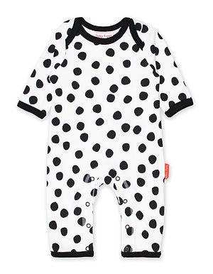 Organic Black Dot Sleepsuit