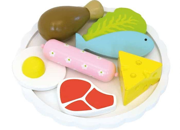 Wooden Food Plate
