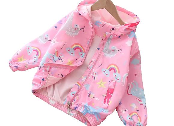 Rainbow & Unicorn Windbreaker Jacket