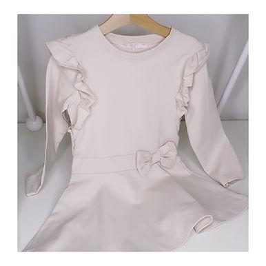 Scarlett Beige Frill Dress