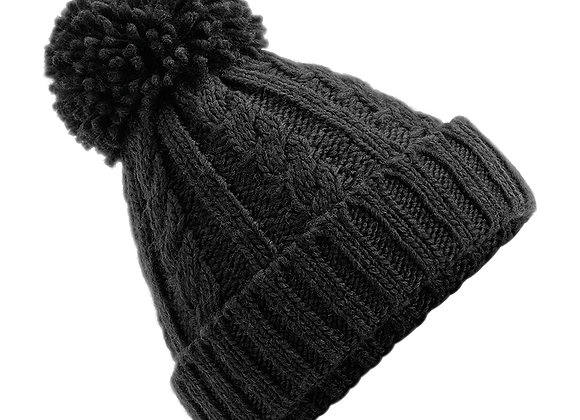 Cable Knit Hat - Black