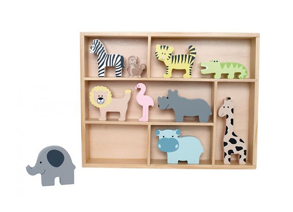 Safari Animal Shelf
