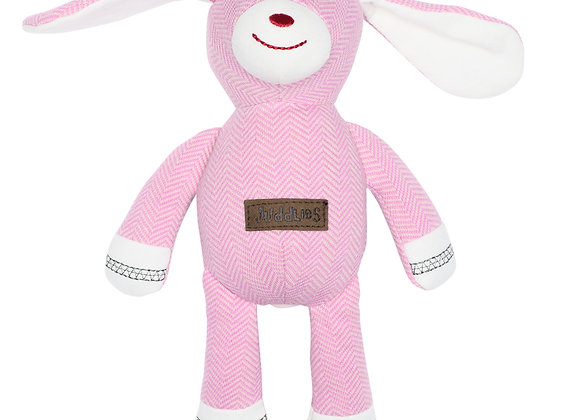 Organic Cottage - Rattle Rabbit- Sunset Pink