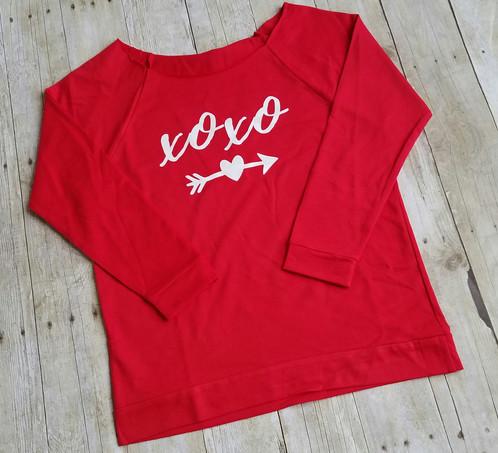 Valentines Day Shirt Women Xoxo Shirt Womens Valentines Shirt