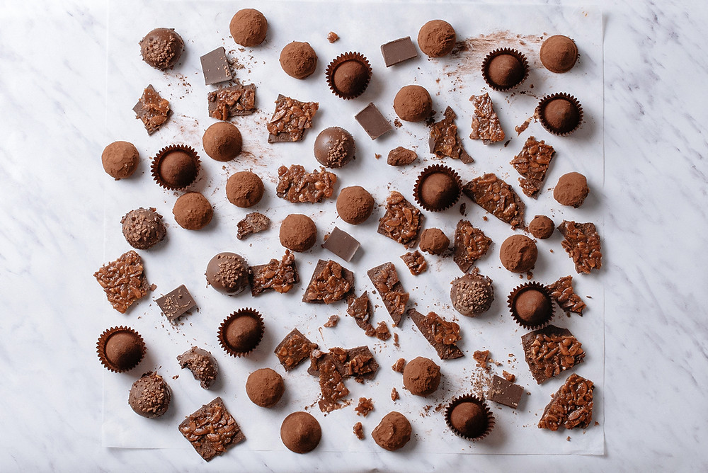 An assortment of chocolate