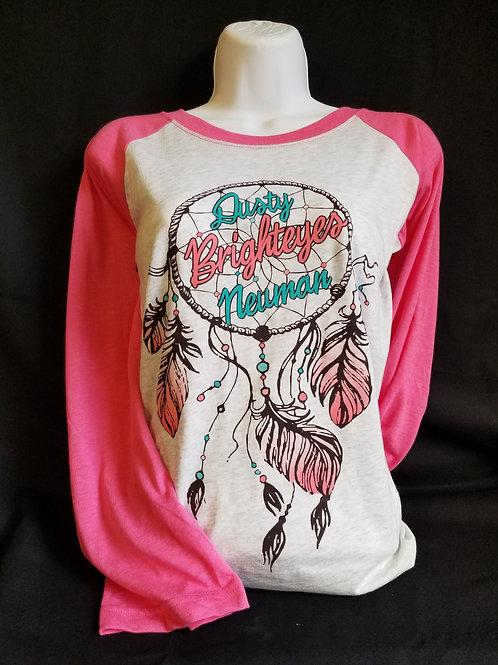 Pink 3/4 sleeve Dreamcatcher