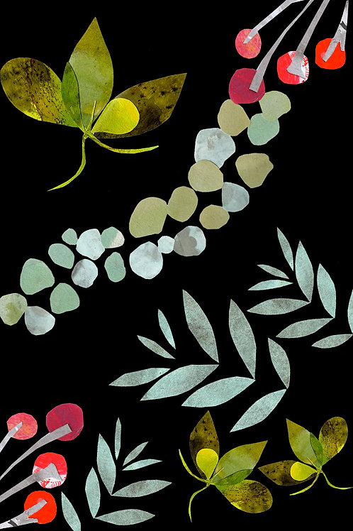 Botanical Ink and Collage (Online Workshop) with Rebecca Mills